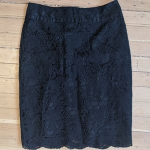Banana Republic Lace Pencil Skirt